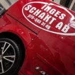 Bildekor till Inges Schakt - monterat på fabriksnya bilar av Top Score profil i Karlshamn